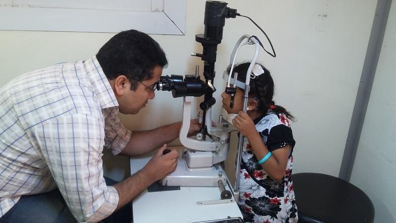 إنجازات برنامج الصحة والعيون لشهر يوليو 2016