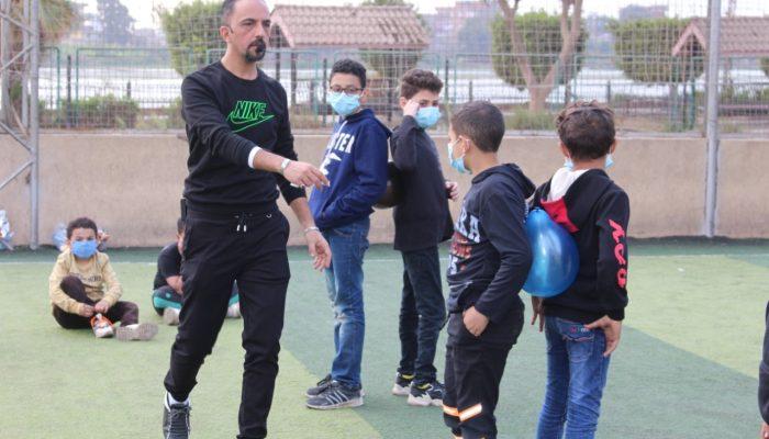 مشاركة الاطفال فى احد المعسكرات